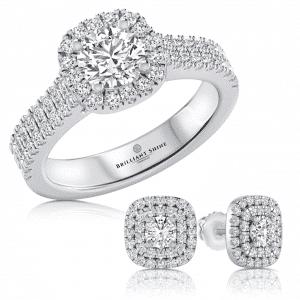 סט עגילי אלין מהממים ומיוחדים הכוללים טבעת אלין תואמת מהממת במיוחד מבית בריליינט שיין Briliiant Shine משובצים יחד ב 1.72 קראט יהלומי מעבדה טבעיים AS GROWN , הסט יוקרתי ומיוחד ומתאים לכל אירוע מיוחד, סט מרשים לכל אישה. ניתן להזמין את העגילים בזהב לבן, צהוב או אדום. העגילים והטבעת נמכרים גם בנפרד בעמודי המוצרים.